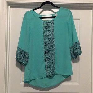 Loose teal dress shirt